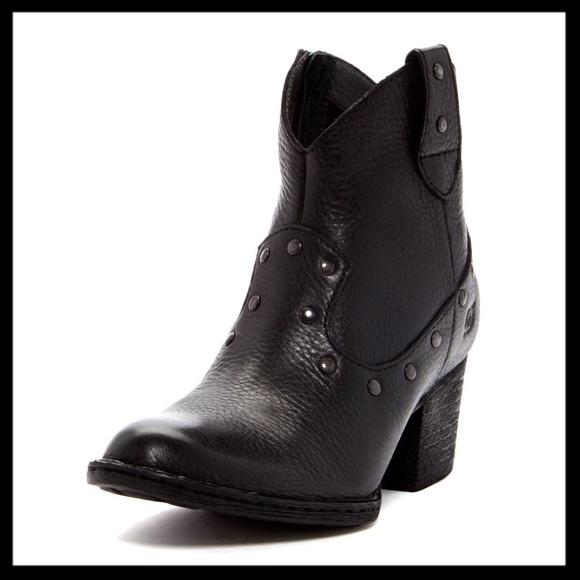 91c87887bfcb Born Shoes - born    perez studded black leather ankle boots